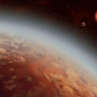 Une représentation de l'exoplanète K2-18b, découverte en 2016.