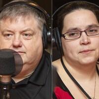 Pascale Brillon, Claude Sabourin et Danielle Rousseau au micro de Catherine Perrin.