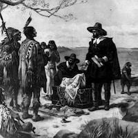 Le colon néerlandais Peter Minuit achète l'île de Manhattan à des représentants des Premières Nations pour des objets d'une valeur de 24 $, le 6 mai 1626.