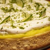 Le gâteau au fromage et à la lime de Lorraine Pagé.