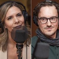 Véronique Lauzon, Arnaud Bouquet et Maryse Legagneur au micro de Catherine Perrin.