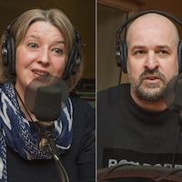 Pascale Navarro, Sandy Boutin et Frannie Holder au micro de Catherine Perrin