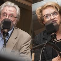 Hubert Van Gijseghem et Rose-Marie Charest au micro de Catherine Perrin