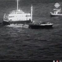 Image de l'épave du SS Arrow