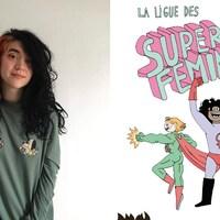 À gauche : portrait de Mirion Malle. À droite : page couverture de la bande dessinée.