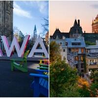 Des images des deux villes