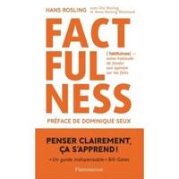 La couverture du livre Factfulness avec le titre écrit en gros caractère.