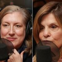 Montage de trois photos de Danny St Pierre, Lesley Chesterman et Liza Frulla.