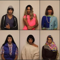 L'artiste prend la pose en incarnant 10 personnages dans un montage photo.