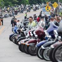 Rassemblement des motards les vendredis 13 à Port Dover