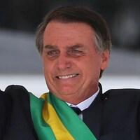 Jair Bolsonaro, lors de la cérémonie d'investiture le 1er janvier 2019 à Brasilia.