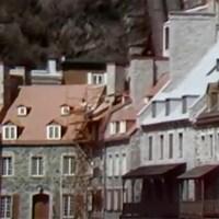 Vue de quelques maisons dans le quartier du Petit-Champlain dans le Vieux-Québec
