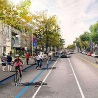 Plan du Réseau express vélo de Valérie Plante.