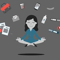 Une femme d'affaire est zen, même si elle doit jumeler avec toutes les sphères de sa vie en même temps, parce qu'elle est passionnée par ce qu'elle fait.