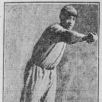 Une coupure de journaux des années 20 avec joueur de baseball afro-américain.