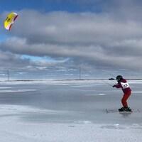 Premier Championnat du monde de Snowkite aux Îles-de-la-Madeleine