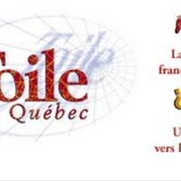 « La Toile du Québec » inscrit en rouge sur un fond blanc.