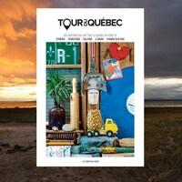 La couverture du livre-magazine Tour du Québec numéro 4 Le temps qui passe sur une image plage.
