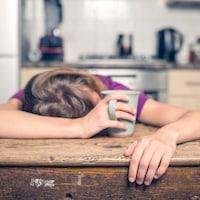 Une femme fatiguée
