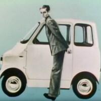 Image publicitaire de la voiture électrique Comuta en 1967