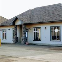 Extérieur de l'un des bâtiments composant l'école.