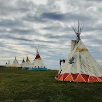 Le site du pow-wow de Gesgapegiag, le long de la baie des Chaleurs