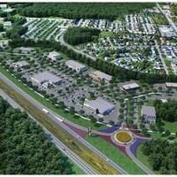 Une carte du projet potentiel du Parc d'affaires.