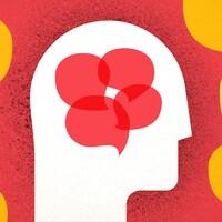 Illustration d'une tête qui contient des pensées tandis qu'autour de la tête se trouve un champ de négativité qui bloque des pensées externes.