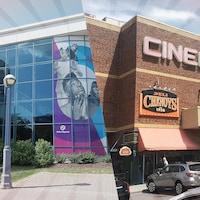 À gauche : la Maison de la culture de Gatineau. À droite : le Cinéma 9.