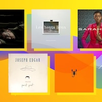 Cinq couvertures d'album qui sortiront en avril.