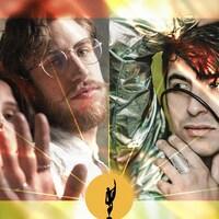 Montage photos des artistes De Flore et Mehdi Cayenne.