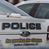 Une voiture du service de police de Saguenay