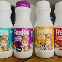 Le yogourt à boire Fredou a été créé en hommage à la fille d'un des co-propriétaires.