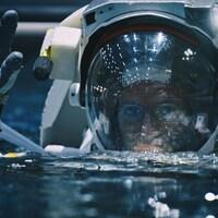 David Saint-Jacques pendant son entraînement d'astronaute.