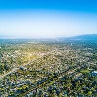 Photo par drone de la Silicon Valley.