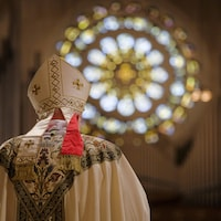 L'archevêque Carlo Maria Vigano, ambassadeur du Vatican aux États-Unis,à la basilique du sanctuaire national de l'Immaculée Conception le jeudi 24 mars 2016 à Washington, DC.