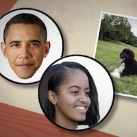 Barack Obama et ses chiens