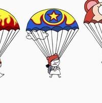 Ils sont en parachute