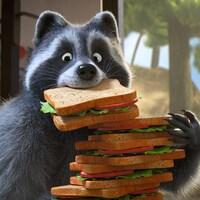 Mercury dévore plusieurs sandwichs.