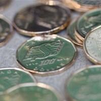 Des pièces d'un dollar