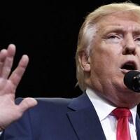 Donald Trump pendant un rassemblement en Floride le 3 août