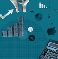 Différentes images et symboles illustrant les finances et certains aspects d'un budget