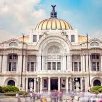 Vue sur un édifice de la ville de Mexico.