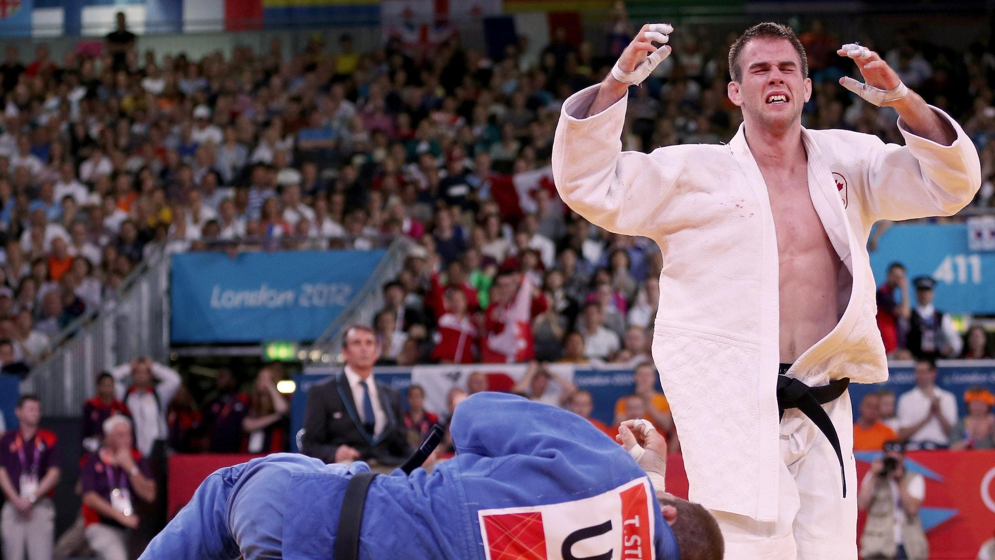 Antoine Valois-Fortier ne faisait pas partie des favoris quand il a gagné sa médaille de bronze à Londres, en 2012. Il n'a pu retenir ses larmes.