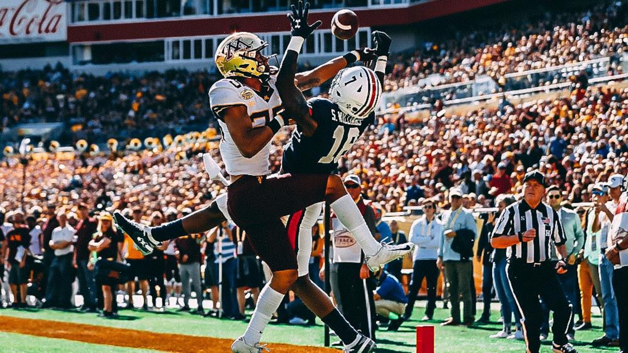 Benjamin St-Juste rabat une passe destinée au receveur Seth Williams (no 18), des Tigers de l'Université Auburn, pendant le Outback Bowl, le 1er janvier 2020.