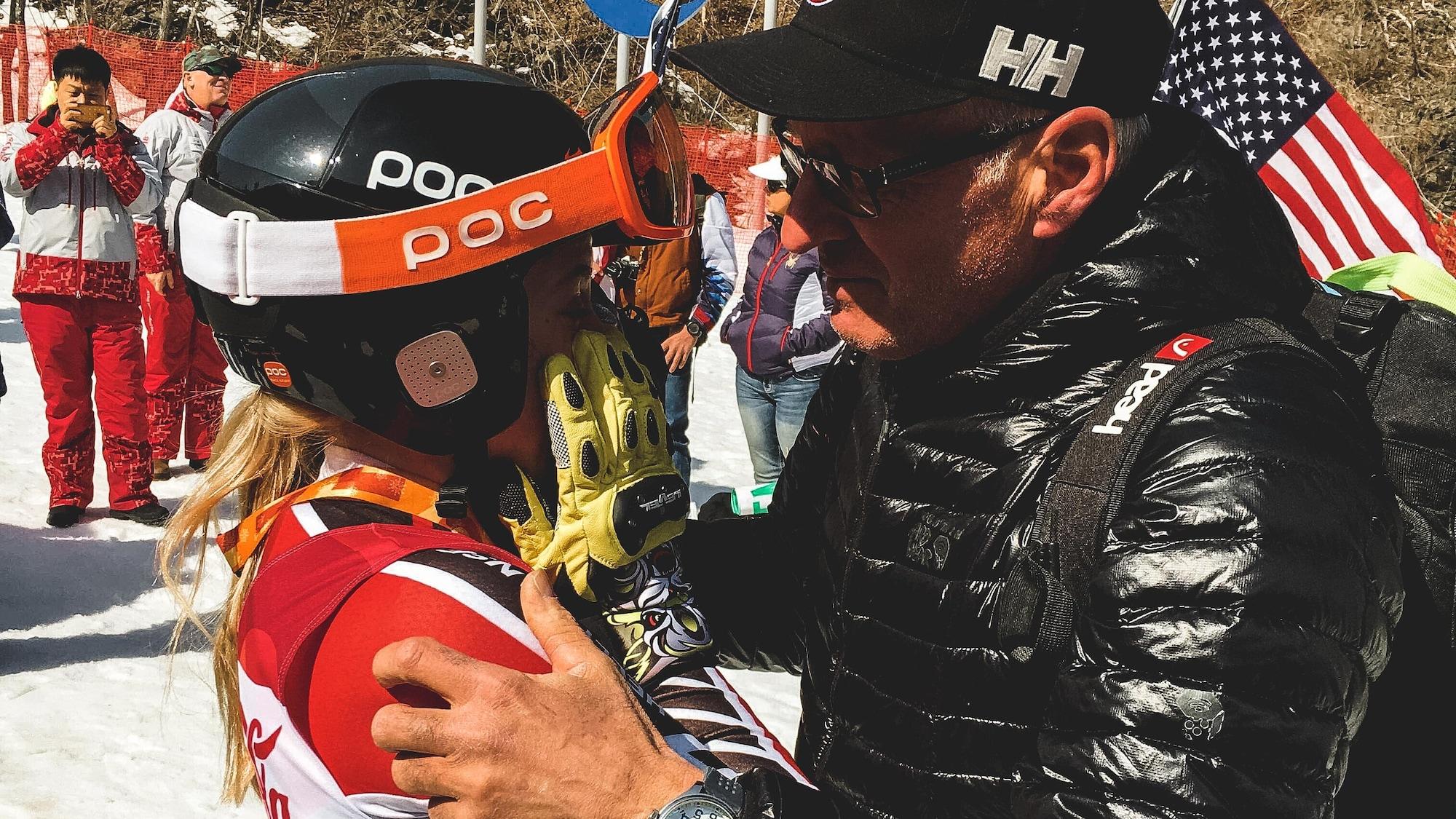 Frédérique Turgeon et son père Ronald aux Jeux paralympiques de Pyeongchang