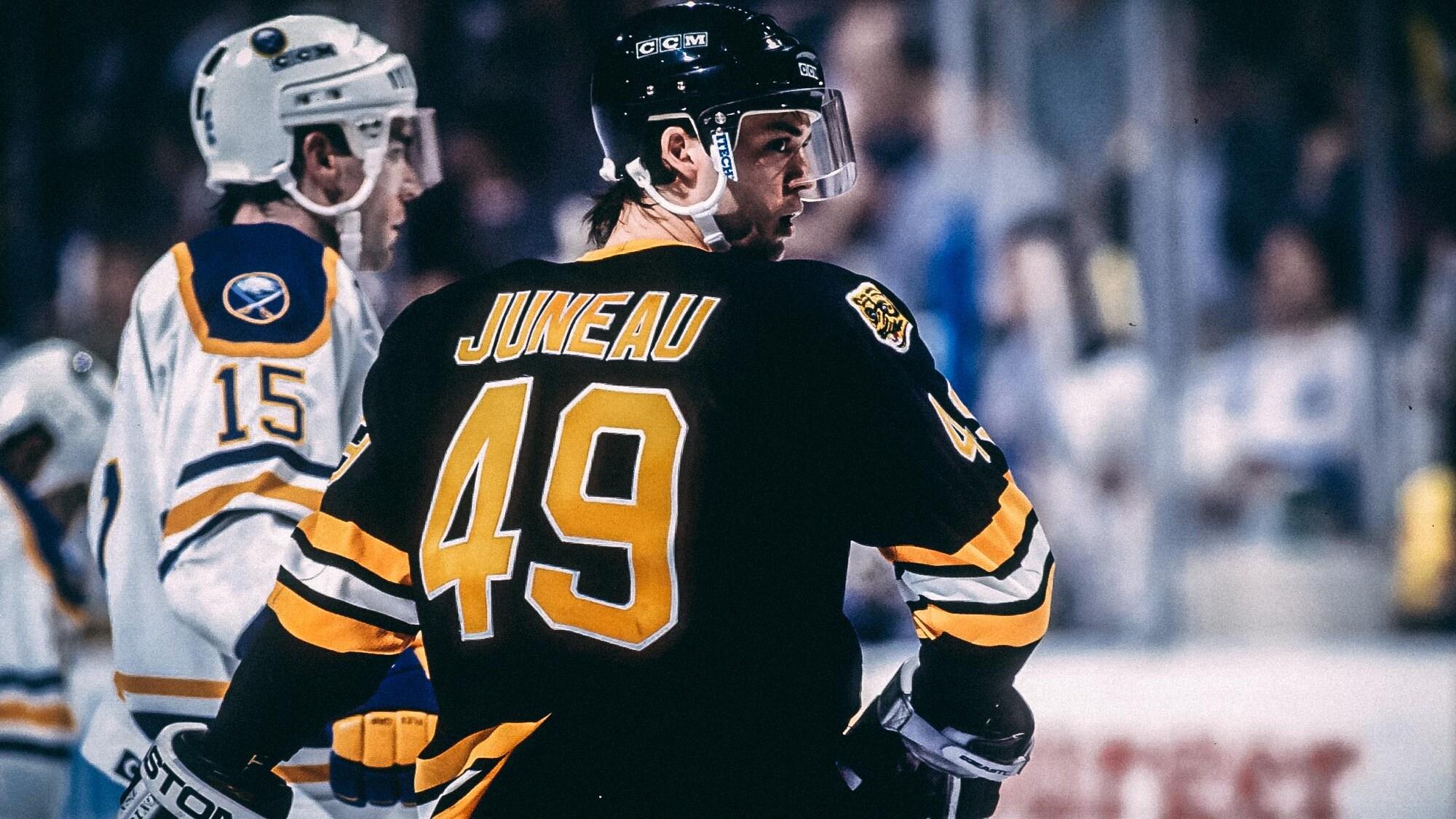 Joé Juneau avec les Bruins de Boston en 1992