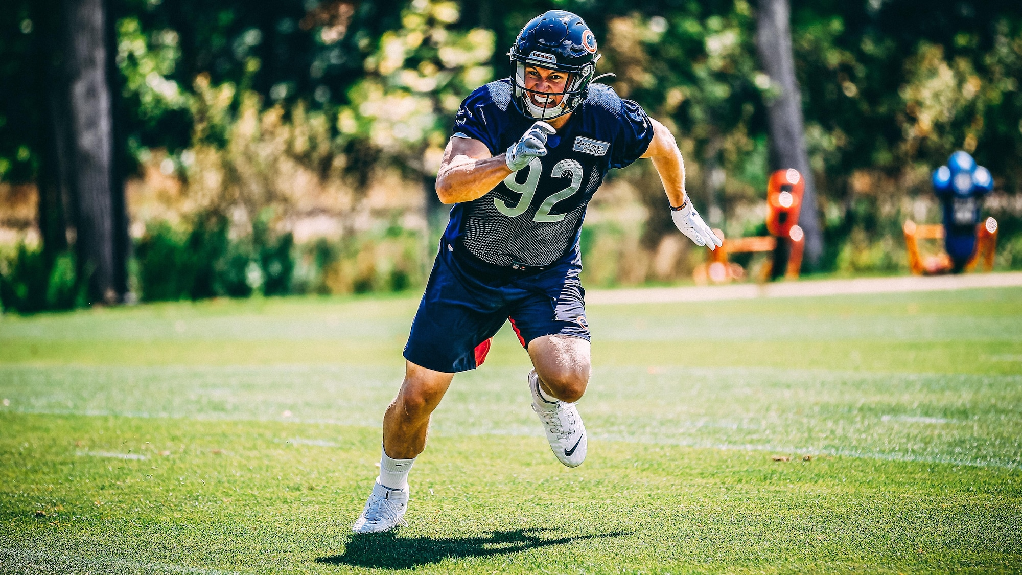 Mathieu Betts court pendant un exercice au camp d'entraînement des Bears.