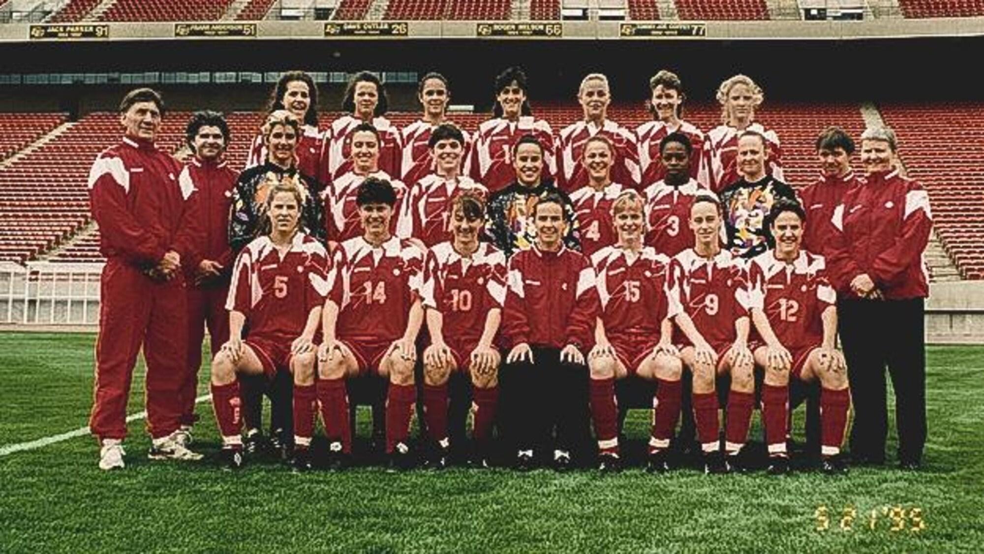 L'équipe canadienne à la Coupe du monde féminine de 1995