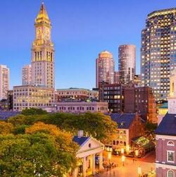 Une image de la ville de Boston